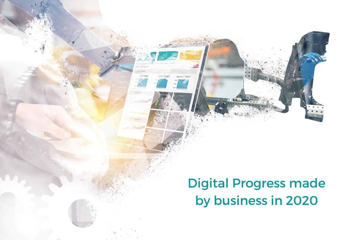 digital progress made by business in 2020